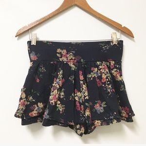 EXPRESS Blue floral skirt skirt XS